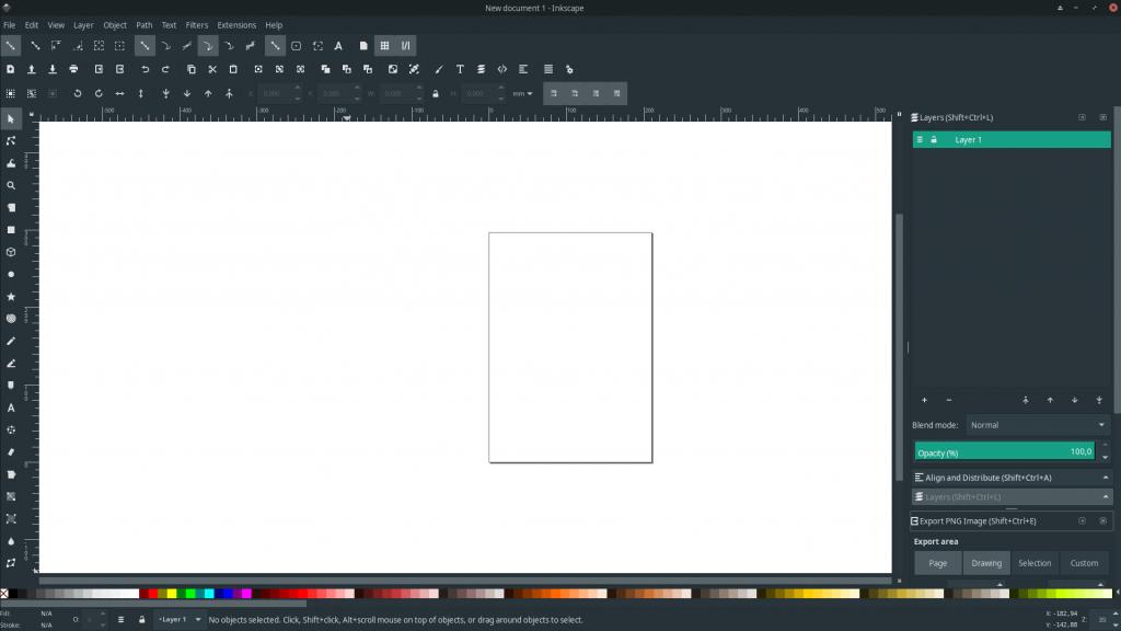Inkscape UI Manjaro