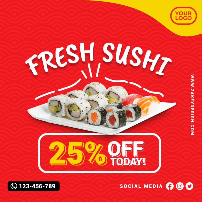 Sushi Food Promotion zakeydesign.com