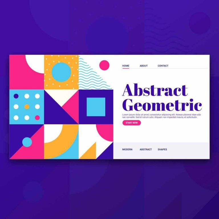 Abstract Geometric Web UI Design